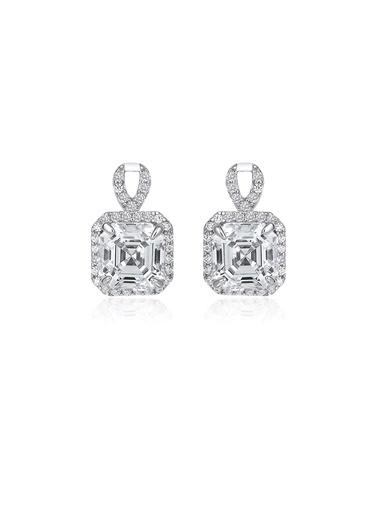 4,6Ct Pırlanta Efekt Luı Altın Küpe-Tophills Diamond Co.